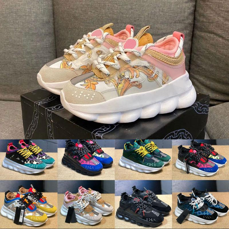 2020 Infant Kids Running chained shoes Rubber Suede Youth Junior sports trainers big small boy girl Children Link-Embossed Sole outdoor s
