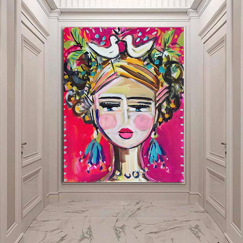 Холст Картина Женщина печати портрет импрессионист современной абстрактной девушки печать на холсте настенные картины для гостиной
