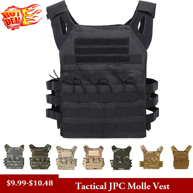 Chasse tactique corps Armure JPC Molle Plaque support Gilet Outdoor CS Game Paintball Airsoft Gilet Équipement militaire