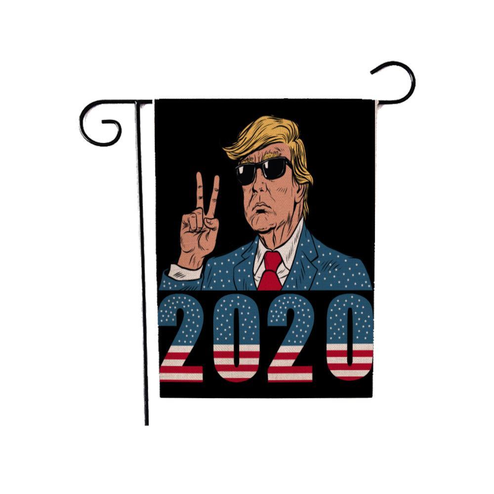 ترامب 2020 العلم 30 * 45CM دونالد ترامب الرئيس الأمريكي الانتخابات حديقة العلم ساحة الحديقة الديكور جعل أعلام أمريكا راية العظمى GGA3684-6