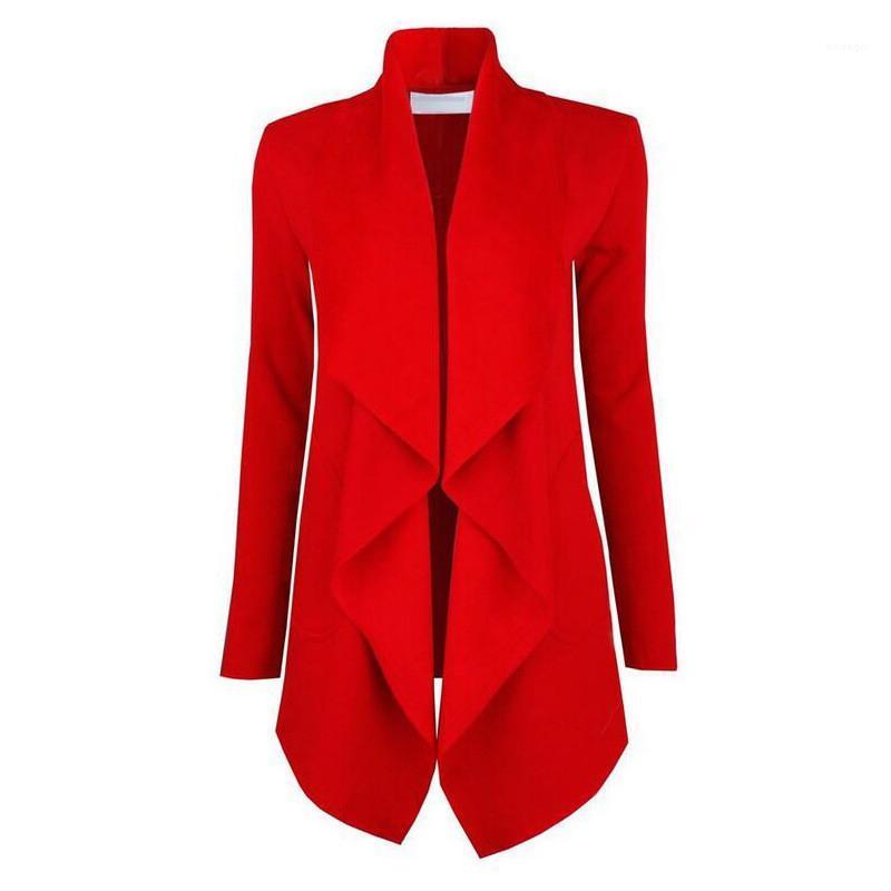 Coats Yeni Casual Sıcak Stil Kalın Katı Renk Uzun kollu Yaka Boyun Coats Kadın Tasarımcı Moda Dış Giyim Kadın Kış Hendek