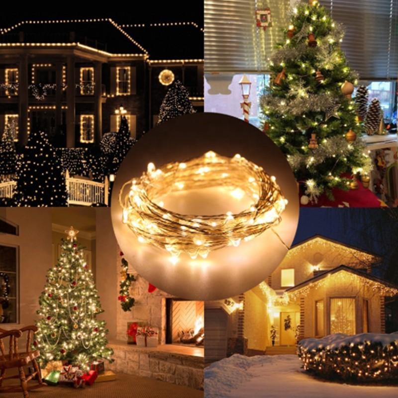 LED-Streifenlicht DC 5V AA-Batterie CR2032 USB Powered 10m Schnur-Lichter Urlaub Ligting Weihnachten Neujahr Party Hochzeit Decora