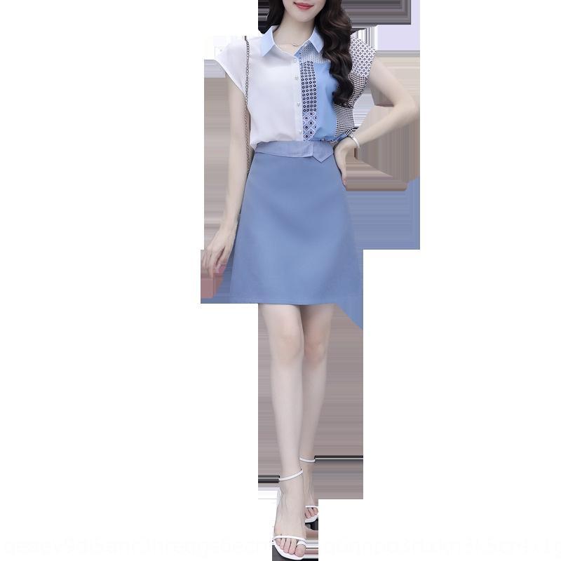 Intervalo de ropa diosa elegante traje claro ropa de verano con vencimiento 2020 nuevo estilo Hepburn mujeres de la falda estilo de vestir ropa occidental Falda