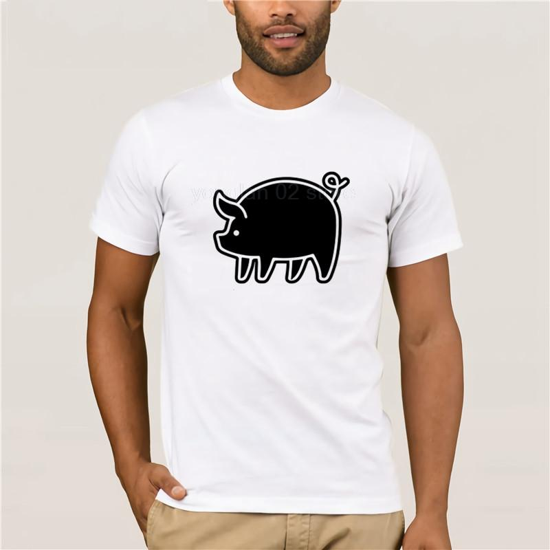Summer Fashion Street с коротким рукавом Футболка Black Pig Футболка белая Красная футболка