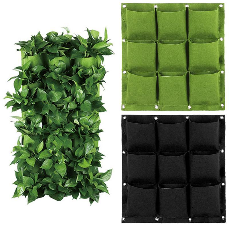 Hanging Vertical Garden Planter Vasi di fiori layout impermeabile Monte attaccatura di parete di fiori borsa perfetta soluzione