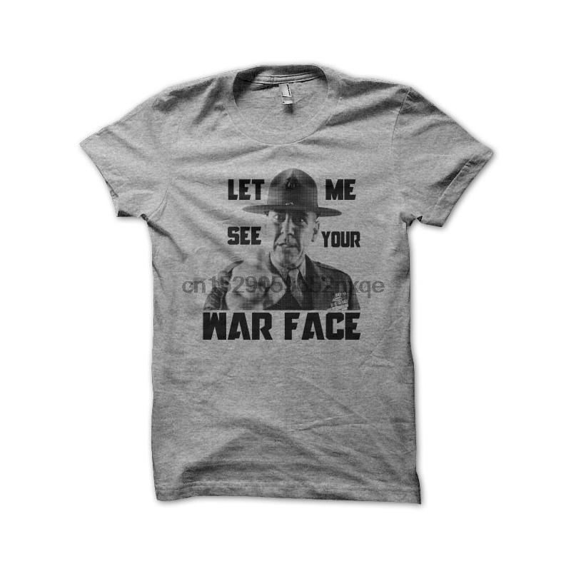 Männer-T-Shirt T-Shirt Sergent Hartman Full Metal Jacket Grau-T-Shirts für Damen T-Shirt