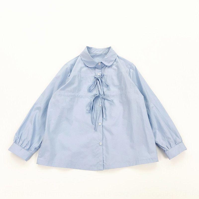NPU0h estilo de gola cordão plissado de dois desgaste cordão estilo feminino colar estudante boneca plissado de dois desgaste Boneca Camisa aluna