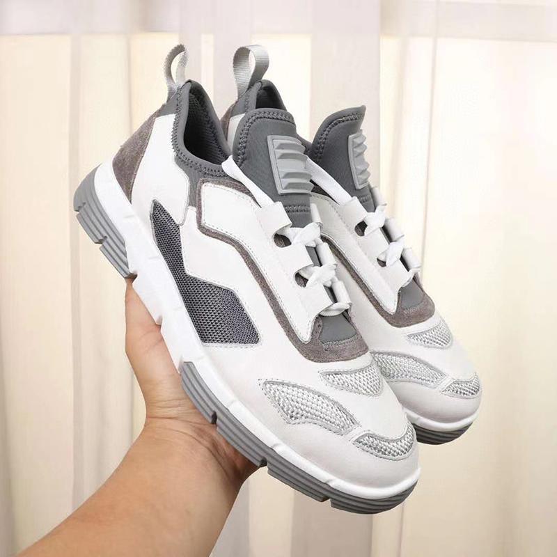 Мужчины Cloudbust Кроссовки Twist Технические ткани кроссовки Top Real Leather Shoes Белый Черный Платформа Инструкторы Light EVA резиновая подошва с коробкой