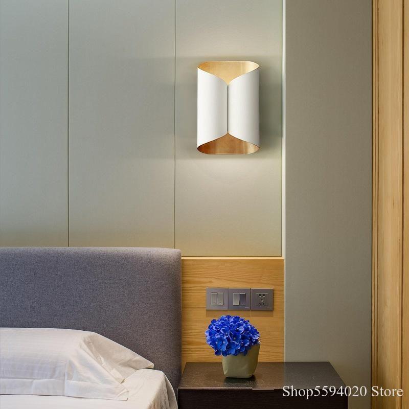 Американская Luxury Бра Скандинавский Творческие Гостиная Настенный светильник Арт Прикроватные Свет Спальня Диван Исследование Дизайнер