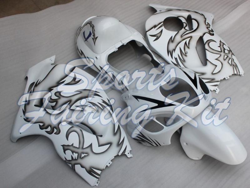 Kits de corpo para Suzuki GSXR1300 1997 - 2007 Black White Carroçaria GSXR1300 2000 Fairing Gsx 1300R 2000