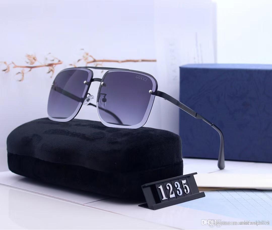 Designer Mens Mulheres de condução óculos polarizados Homens Mulheres Big Quadro Sunglass chifre de búfalo Lentes Óculos Turismo óculos de sol Óculos de sol