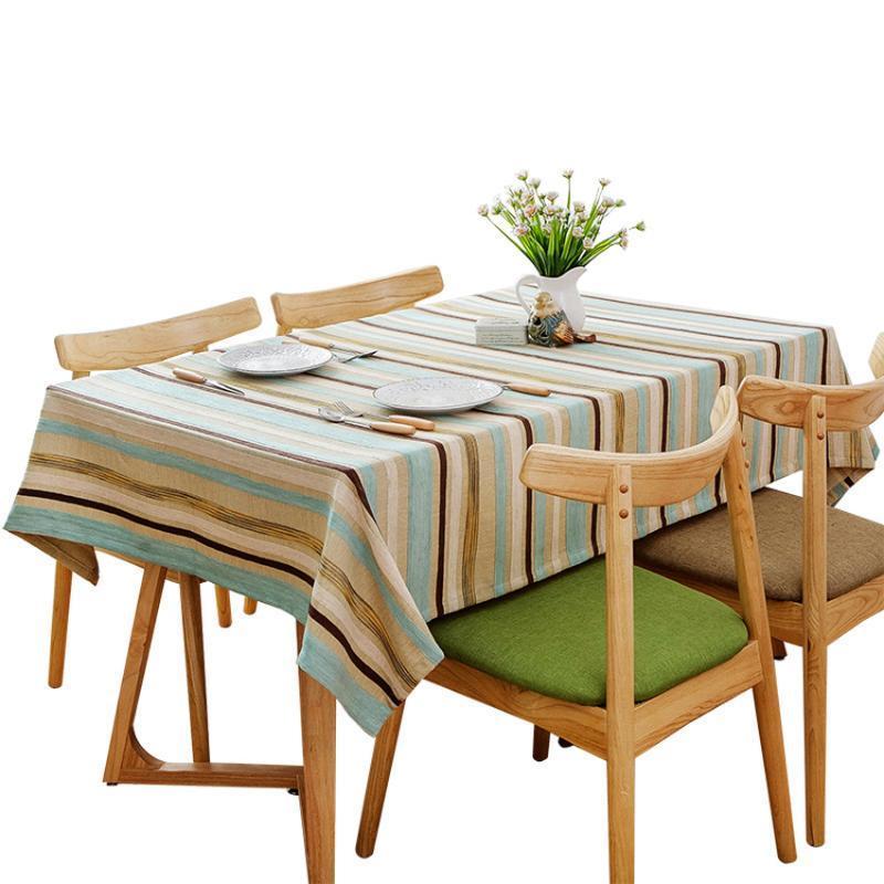 Современные Полосатый Скатерть Журнальный столик Обложка Прямоугольный Обеденный стол Ткань Oilproof Tafelkleed Home Decor Mantel Mesa Tapete