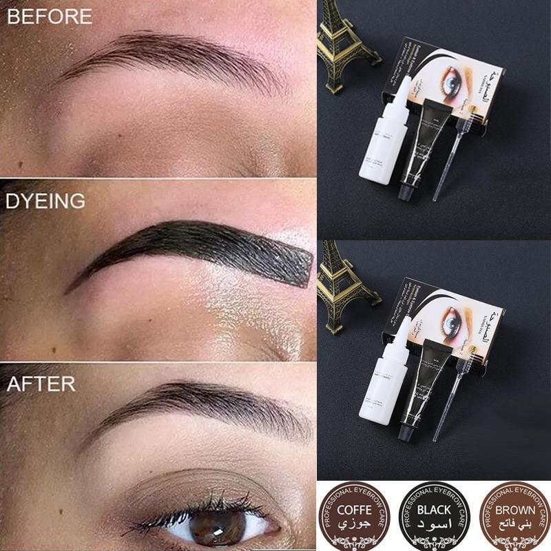Professional Series Henna Eyelash Eyebrow Dye Tint Gel Eyelash Brown Black Color Tint Cream Kit, 15-minute Fast Tint Easy Dye 0022