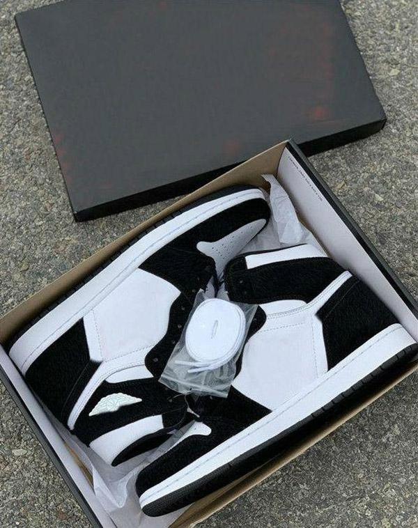 En kaliteli En Yeni Toptan Yüksek OG WMNS Basketbol Ayakkabı 1 1s Panda Renk Erkek Siyah Beyaz Doğa Sporları Sneakers