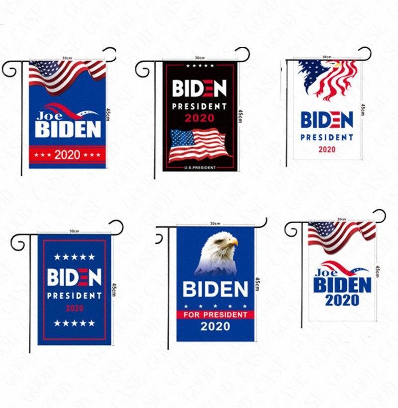 30 * 45cm los EE.UU. Elección Biden Trump imprimir cartas Jardín banderas de la mano la bandera de señal de poliéster 2020 Banderas de América del jardín decoración del hogar D X6P8 #