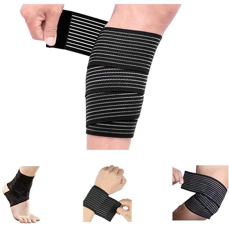 1 Adet Elastik Bandaj İçin Bilek Buzağı Dirsek Bacak Ayak bileği Koruyucu Sıkıştırma Diz Desteği Spor Bandaj Kayış Spor Güvenlik