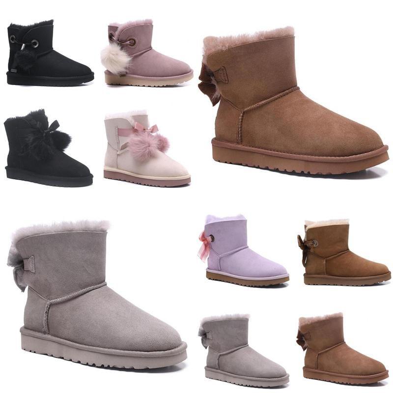 2020 Nuovo Australia, avvio di scarponi da neve d'inverno ugg women men kids uggs slippers furry boots slides dimensioni marrone 36-40 dell'OICV #