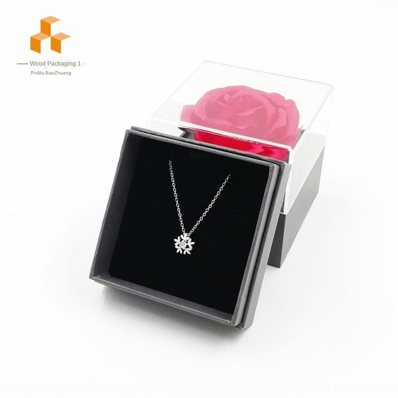 Special Red Rose Yongsheng flower jewelry gift box necklace earrings ring jewelry box