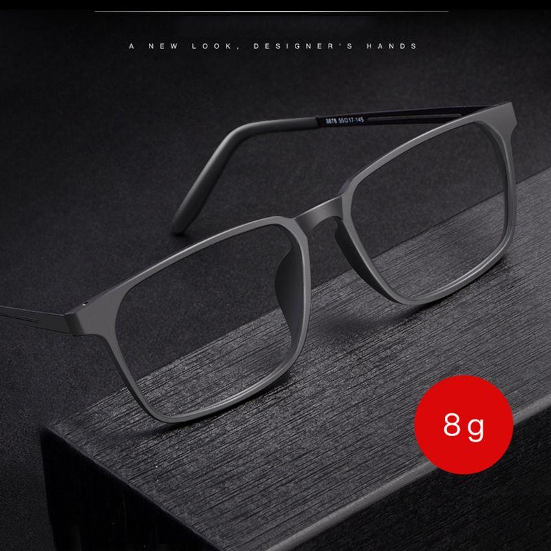 TR-90 Plastik Ön Jant Gözlük Gözlük Çerçevesi ile Erkekler ve Kadınlar 8878 Titanyum Esnek Ayakları Optik Gözlük Çerçevesi