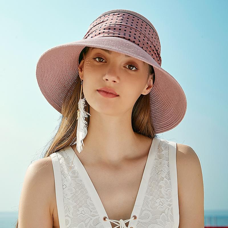 Sedancasesa летние шапки плетеная соломенная шляпа для женщин-Бич Casual Sun Шляпы Широкий Брим Козырьки Caps соломенной шляпе с Bowknot