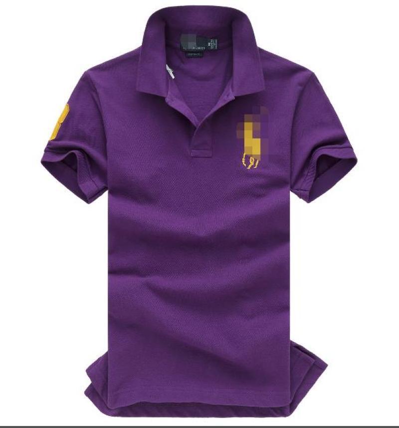 Viola V-Neck Pure Color Menswear comodamente in primavera e in autunno T-shirt con maniche corte 2046