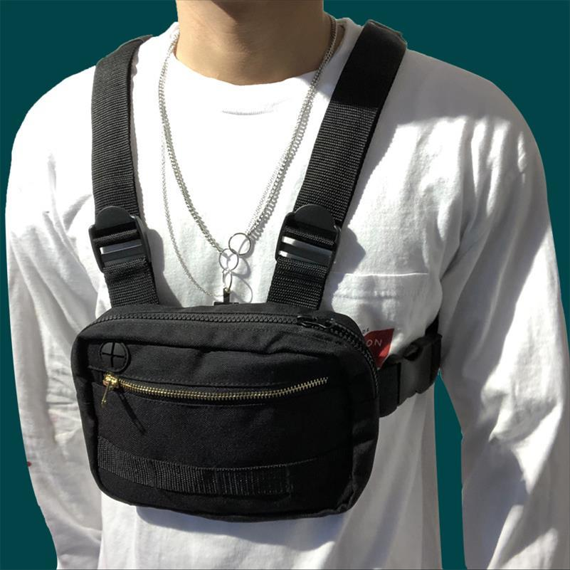 Estilo chaleco gran espacio pecho bolsa de la plaza de pecho bolsa de Calle funcional del hombro Mochila táctica divertido paquete G108