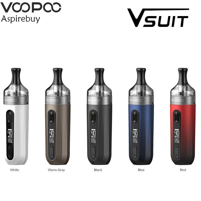 VOOPOO V.SUIT Pod Vape Kit 40W 1200mAh Battery V SUIT 2ml Cartridge PnP-TR1 PnP-TM2 Coil Electronic Cigarette Vaporizer Original