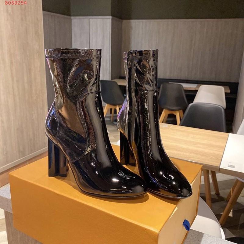 Горячий продавать на высоких каблуках клинья женщин сапоги женщин leisurevintage напечатаны кожаные толстые каблуки противоскользящие обувь молния сапоги женские сапоги