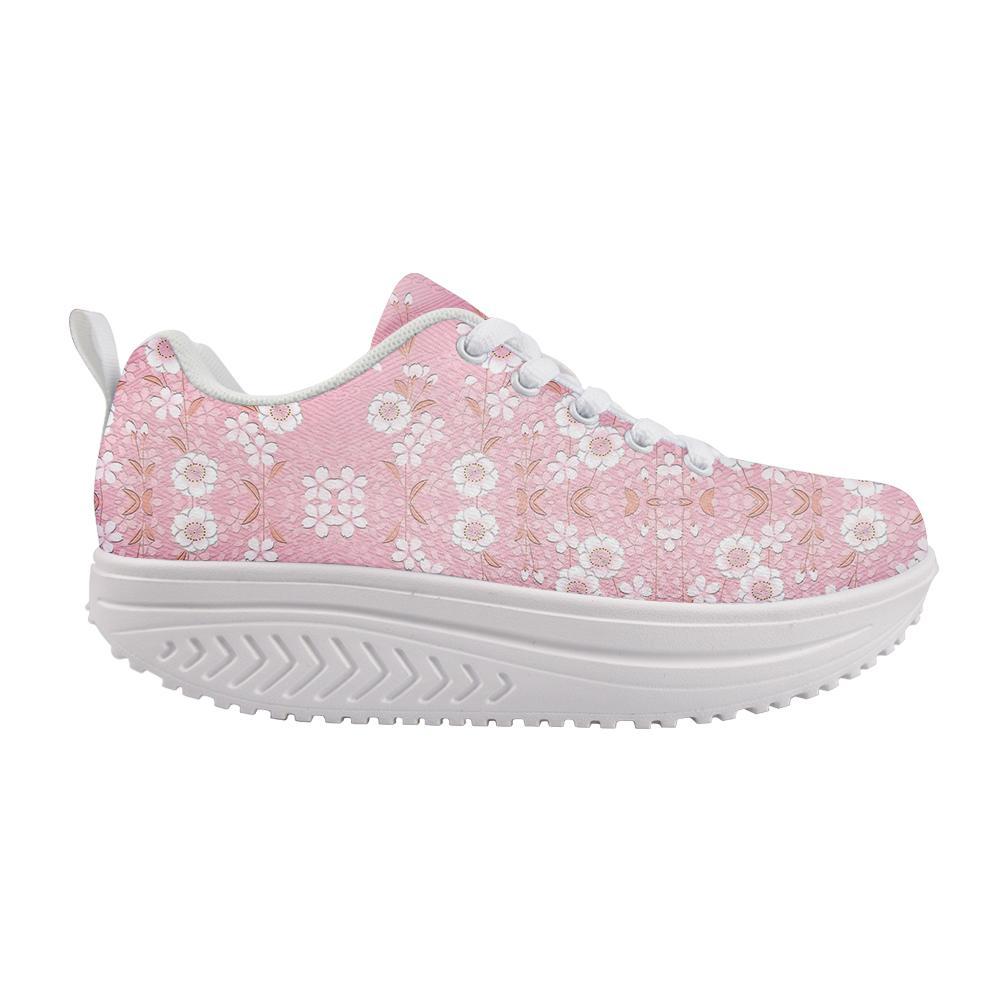 Kadınlar Kalın Dip Mesh Ayakkabı Güzel Çiçek Baskı Artı boyutu Sneakers Trend Düşük En İyi Hediyeler Ayakkabı Zapatillas Mujer Salıncak