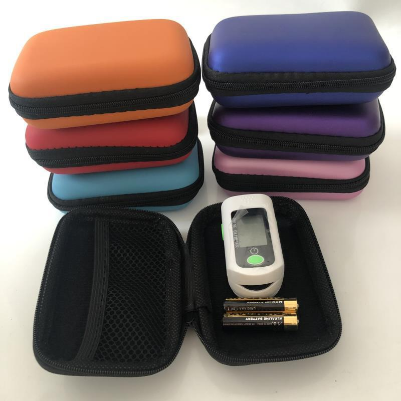 Cgjxs dedo oxímetro colorido duro portátil Ev Caso protecive cremallera bolsa de viaje bolsa de transporte Box Para dedo oxímetro de pulso del cable del auricular