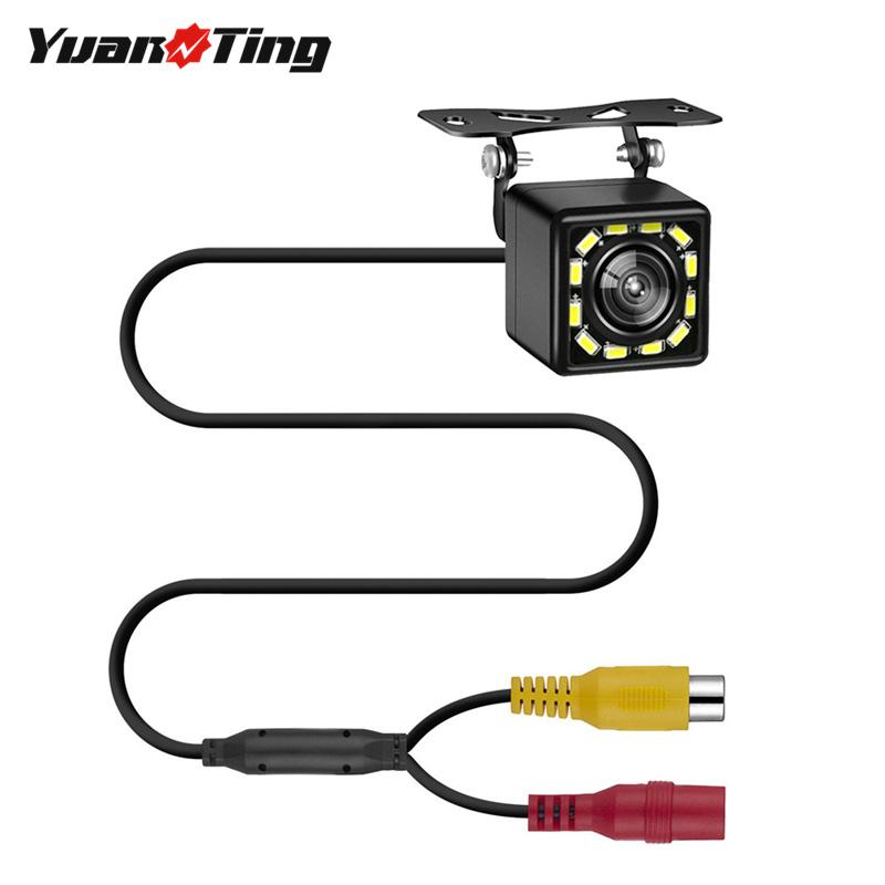 YuanTing Waterproof 12 LED HD Car Rear View Reverse Backup Camera Cable Parking Night Vision 170 Wide Angel for Universal Cars
