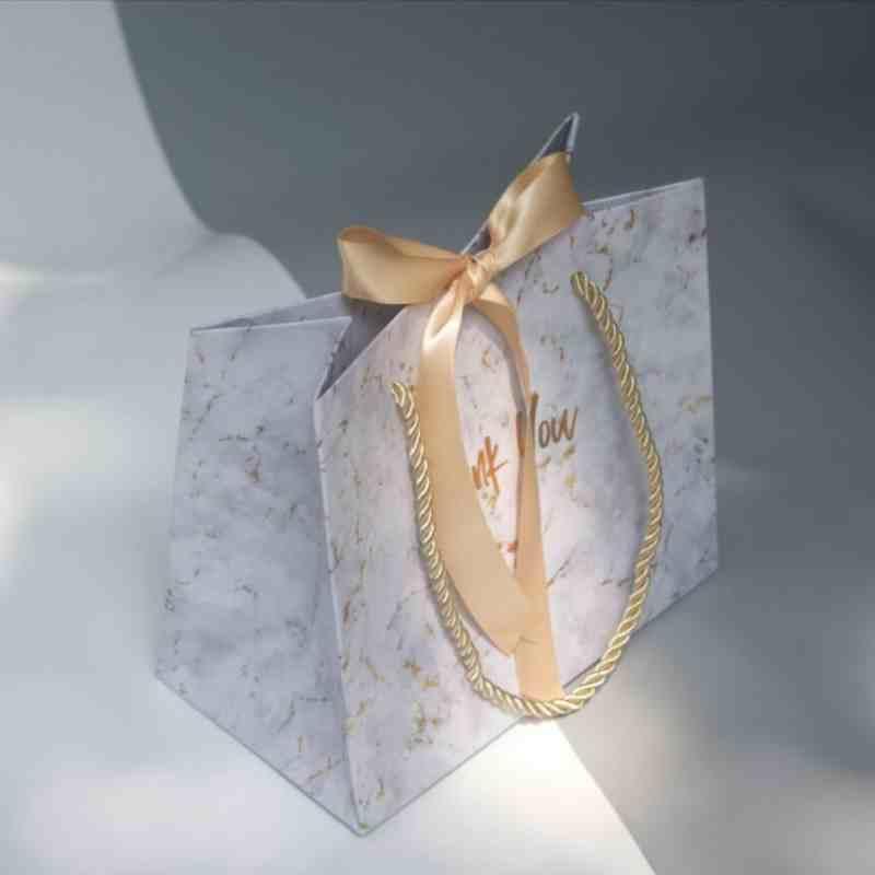 20pcs / lot Yüksek kaliteli Hediye Çanta Mermer Stil Şeker Kutuları Düğün Taşınabilir Hediyelik Kutu Parti Favor Dekorasyon iyilik