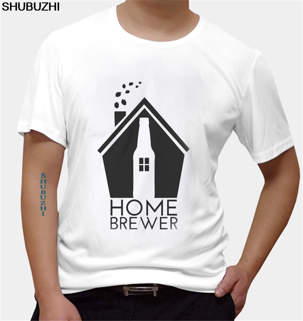 Inicio Brewer Craft Beer masculino camisetas O-Cuello Ropa de la marca TShirt 100% algodón más el tamaño normal de manga corta camisas de las camisetas para los hombres