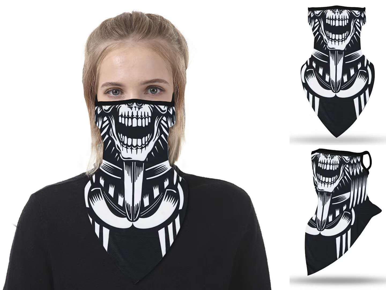 35 colori antivento maschere stampa Triangolo Sciarpa Sport Maschera Pesca Ciclismo in corso Buff copertura magica Abbigliamento protettivo DWD621