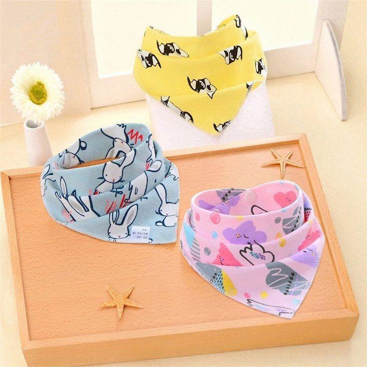 13 Styles Baby Bibs Cloths Infant Triangle Scarf Cartoon Print Baby Bibs Toddlers muslin Cotton Saliva towel T9I00377 rN6W#