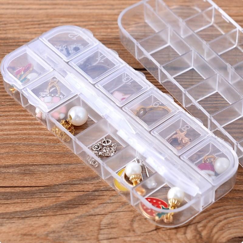 Съемные серьги хранения ожерелье кольцо портативный мульти-сетка прозрачный простой упаковки ювелирных изделий кольца ювелирных изделий коробки коробка для хранения bCMXe BCM