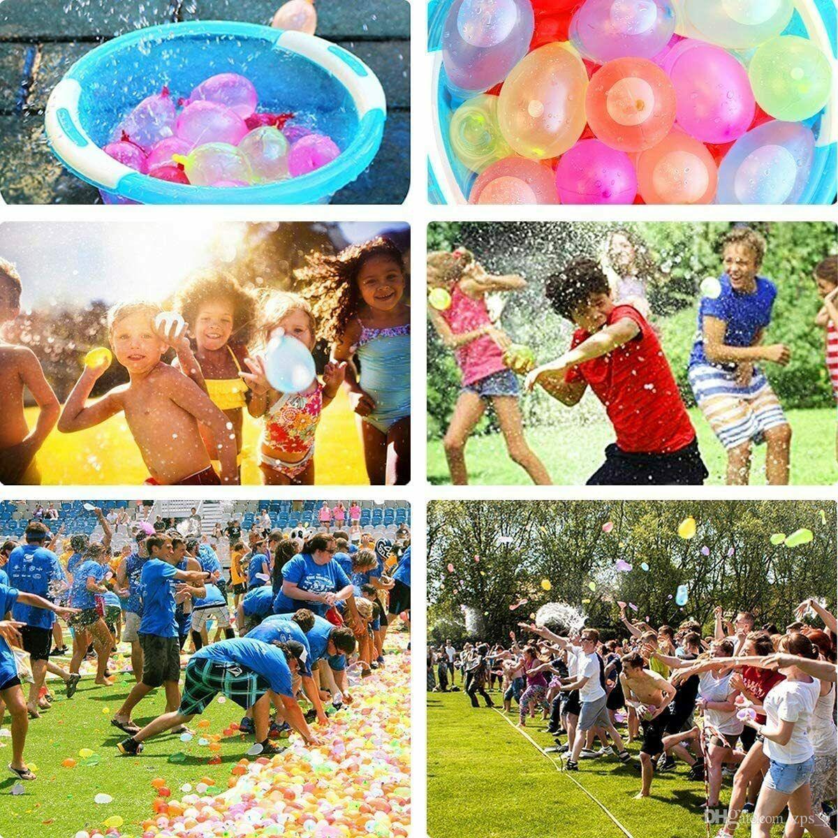 111Pcs Ballon Buntes Wasser gefüllte Ballons Sommer-Kind-Garten-Strand-Party Im Freien im Wasser spielen Ballons Spiele für Kinder Spielzeug 004