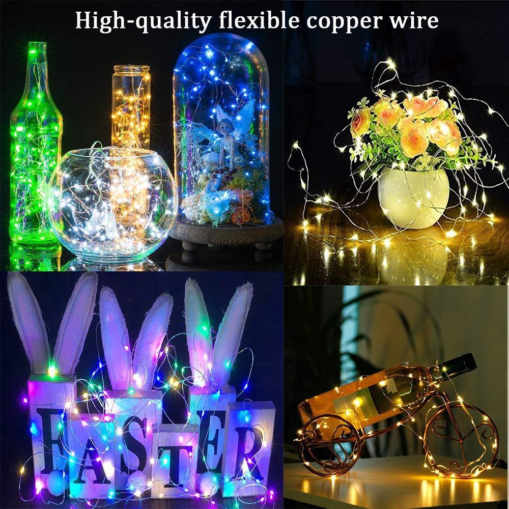 5M 10M LED Luzes Cordas de Prata Fada fio luzes Night Light para decoração Garland Christmas Room Quarto casamento Indoor Lamp