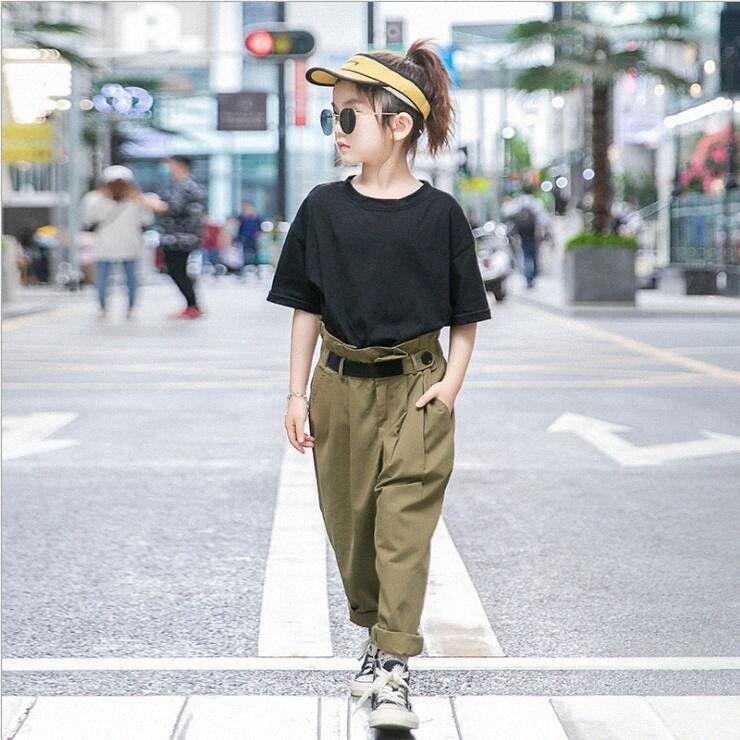 Neonata copre 2020 nuove ragazze abiti estivi Maglie a manica corta e pantaloni 2pcs insiemi casuali di modo delle ragazze dei capretti vestiti Outfits T5CD #