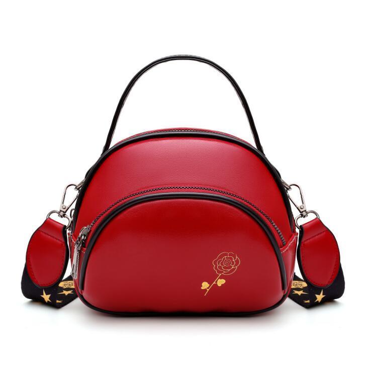 Fashion Girl Mini Bolsas de Ombro Mulheres Crossbody três camadas de couro pequena mala de mão de alta qualidade