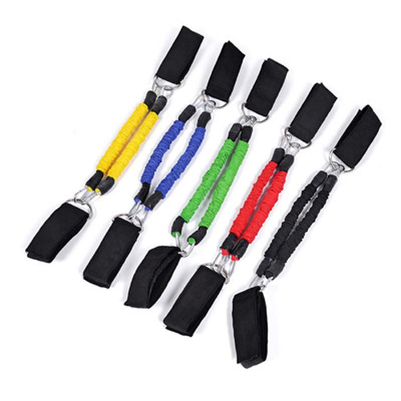 1pc Pedal Exerciser Elastic Bands Jump Training Trainer Expander Resistance Bands Set Leg Fitness Equipments Ankle Straps