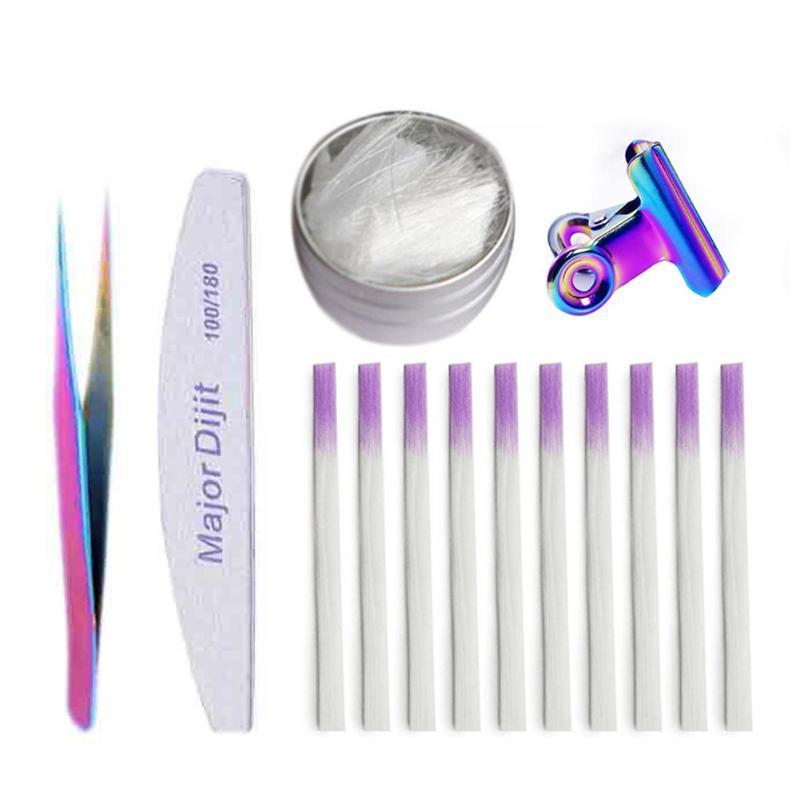 Kit nail art kit professionale fibra di fibra di fibra di fibra di fibra di fibra di fibra di fibra di fibra di vetro in acrilico estensione manicure salone strumento set strumenti