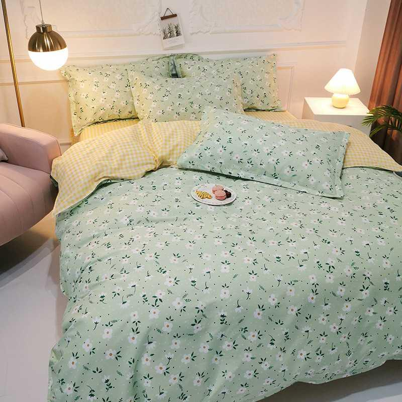 100% Cutton Plant and Flower Series Super Breathe Skin Friendly Queen King Size Luxury Comforters Bedding Sets AMS29031