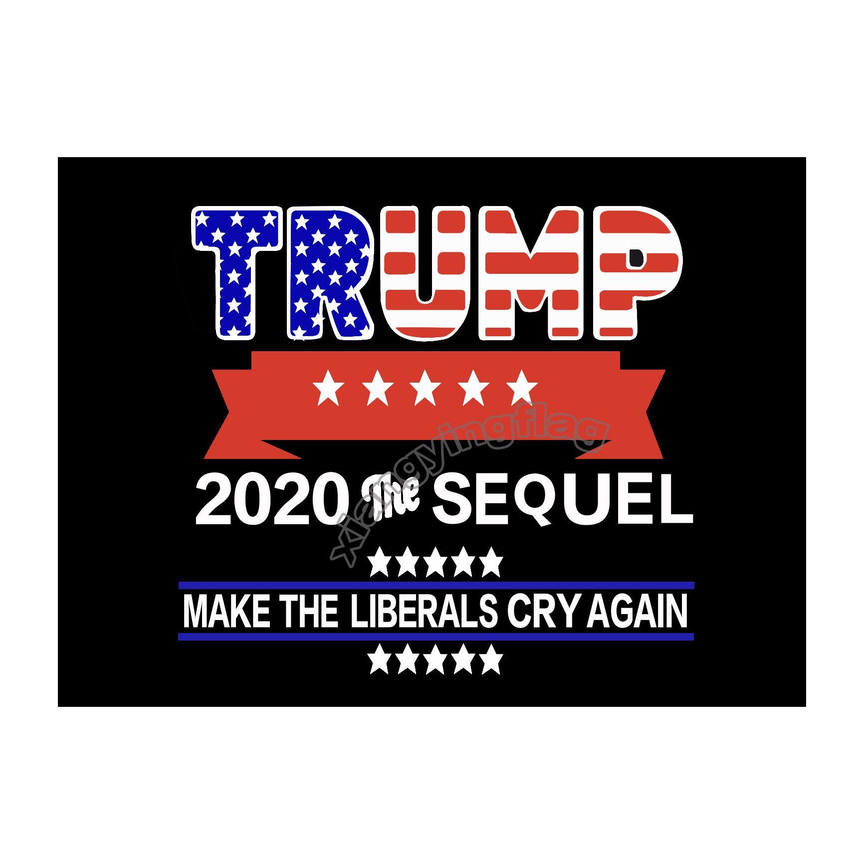 freies Verschiffen Großhandelsfabrikpreis 100% Polyester 90 * 150cm 3x5 fts Trump 2020 Flag Banner Dekoration Innen- oder Außen