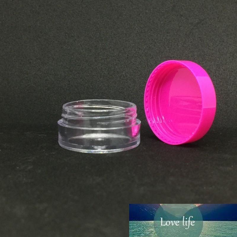 De plástico transparente tapa vacío tarros Pot Hot Pink 5 ML Tamaño de la muestra para la cosmética Crema de sombra de ojos en polvo Nails