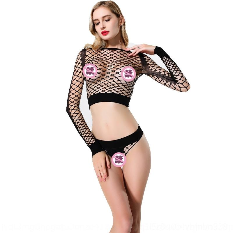 tsSIU ropa interior de la honda de estándar abierto hueco-hacia fuera de una sola pieza atractiva atractiva de los calcetines de la liga de la ropa interior de Jacquard modo jacquard malla de las mujeres