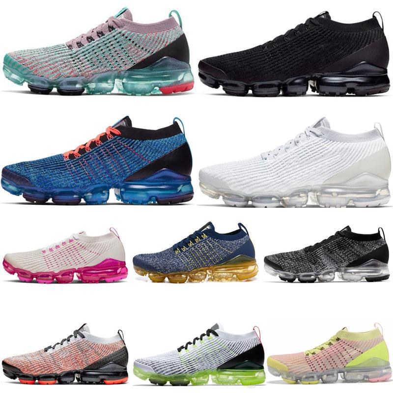 Fly 2.0 3Sneakers.Mens Maglierie Scarpe Nero Bianco Triple Volt Cinder MOC Dusty Cactus Womens Sneaker Vapori Cuscino di sport Corsa