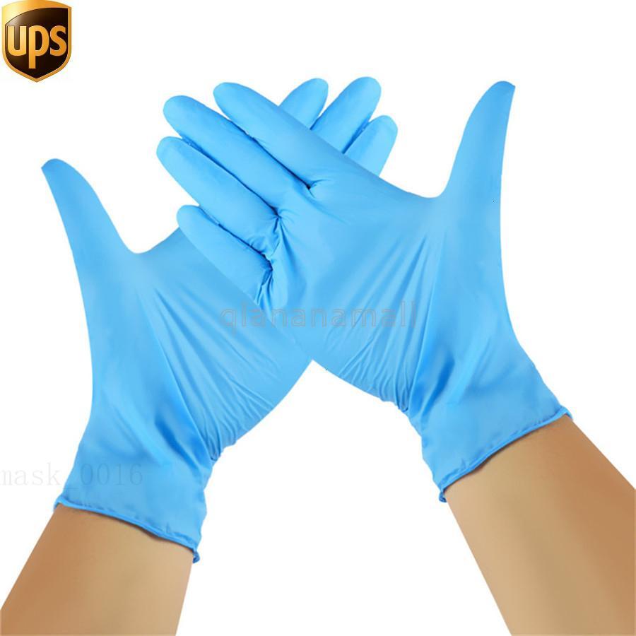 Hot Grade azul Butyl Limpar 100pcs descartável PVC borracha nitrílica, luvas de látex, azul branco Ye8x