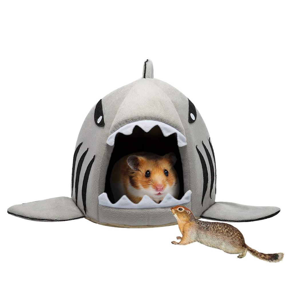 SEIS Shark Hamster Nest Small Animal House Small Pet Warm Autumn and Winter Cotton Nest Toys for Rat Totoro Squirrel Bed