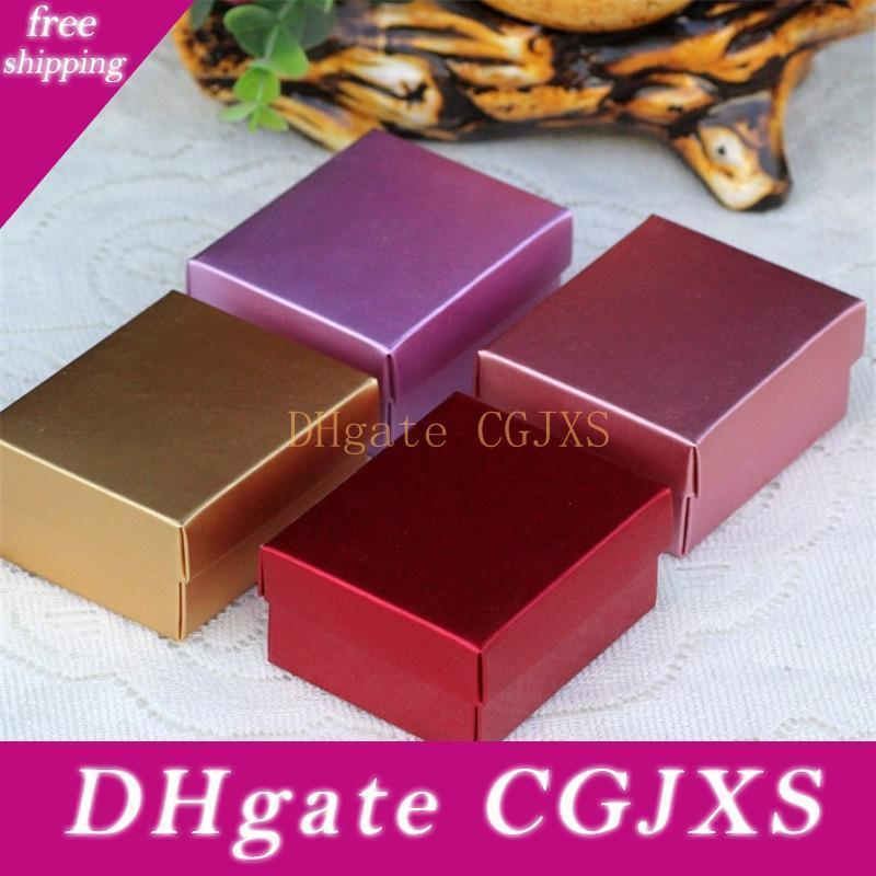 6 .5 * 8 * 3 0,8 Cm La carta colorata scatola regalo della festa Candy Box Wedding Diy Sapone Packaging piccola torta del biscotto Scatole Lx1899